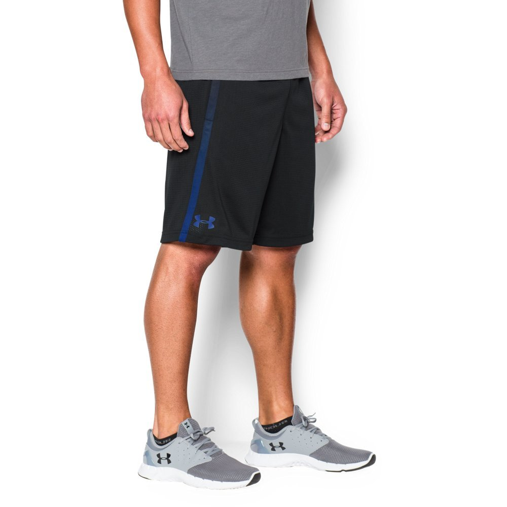 Under Armour Men's Tech Mesh Shorts, Black (002)/Royal, Small