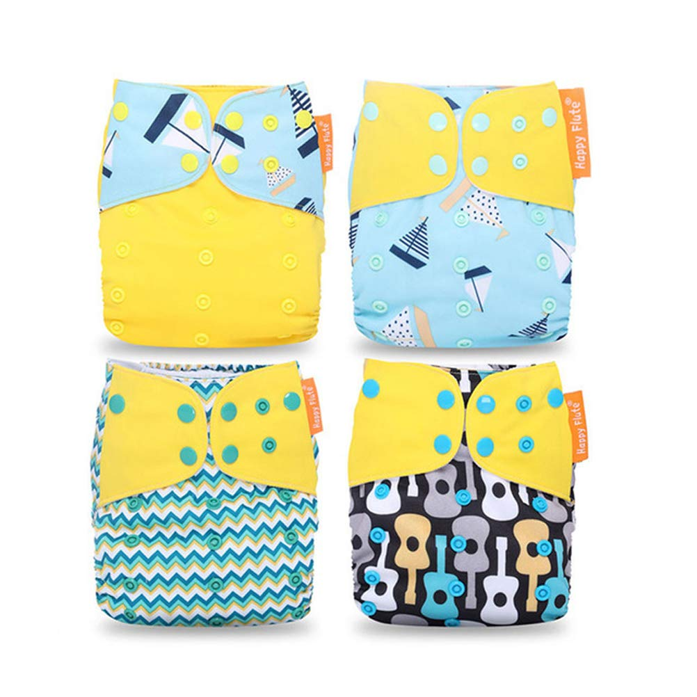 4PCS, Kaninchen, Rettich HahaGo Baby Stoffwindel waschbar wiederverwendbare Windeln All-in-One-Taschenwindel f/ür die meisten Babys und Kleinkinder