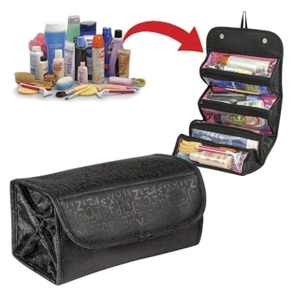 LS inserción del Recorrido Portable cosmético del del del Bolso del Monedero del Organizador Grande Liner Maquillaje ordenado Neceser de Viaje 62844a