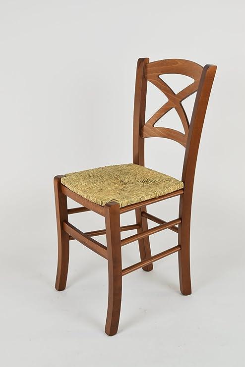 Tommychairs sedie di Design - Sedia Modello Cross per Cucina e Sala da  Pranzo dallo Stile Classico, con Robusta Struttura in Legno di faggio ...