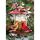 Winter Feeder – STANDARD Size, 28 Inch X 40 Inch, Decorative Double Sided Flag MADE IN USA by Custom Décor Inc.