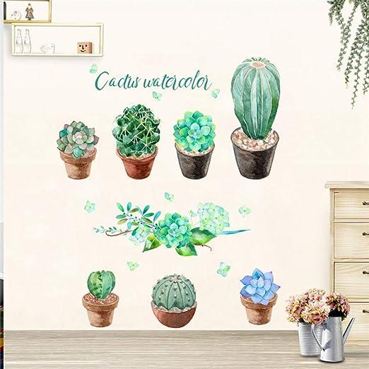 RALCAN Colorido Jardín 3D Plantas Vívidas Flor Pegatinas De Pared ...