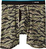 Stance Men's Camo Dots Combed Cotton Boxer Brief Underwear (Tan, Medium)