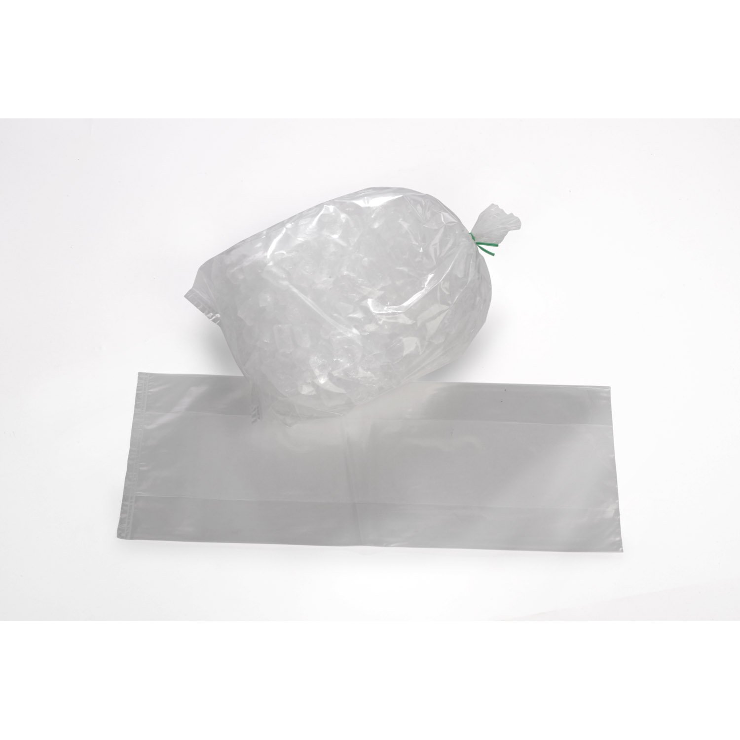 18'' x 36'' x 3 mil Clear Eco-Manufactured Plastic Ice Bags (Case of 250)