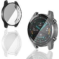 PUBUNUS 2 Piezas Protector de Pantalla Compatible con Huawei Watch GT2 46mm, Resistente a Rayones TPU Protector de…