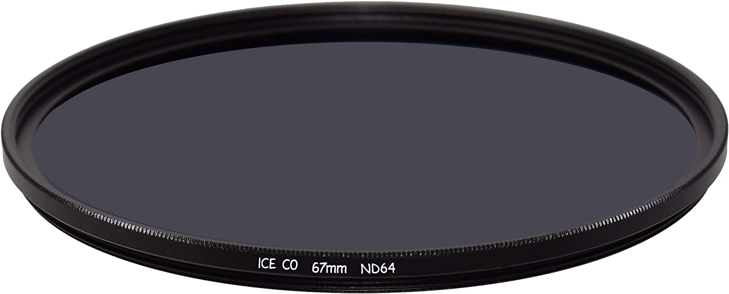 ICE CO Slim 67mm MC ND64 Filter Neutral Density ND 64 6 Stop 16 Layer Nano Multi-Coated Optical Glass 67