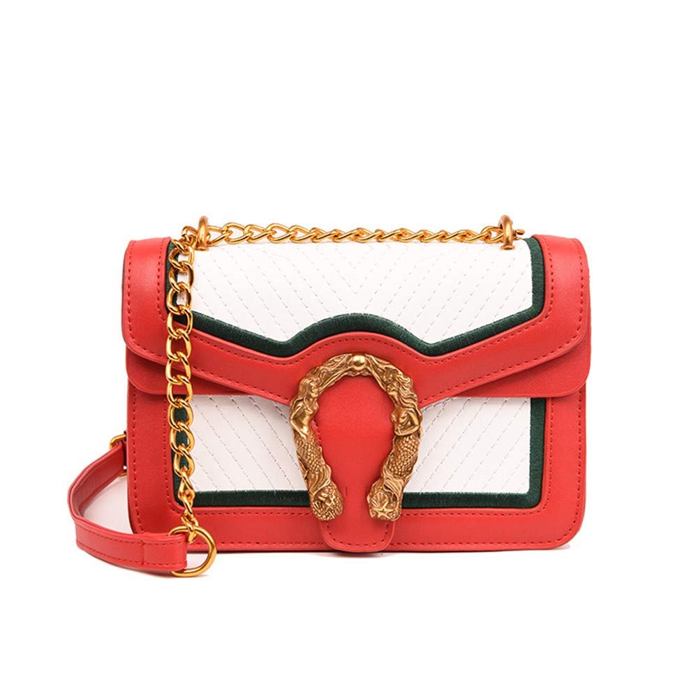 Crystalzhong Spring And Summer Leisure Chain One Shoulder Slung Female Small Square Bag Multifunctional diagonal package
