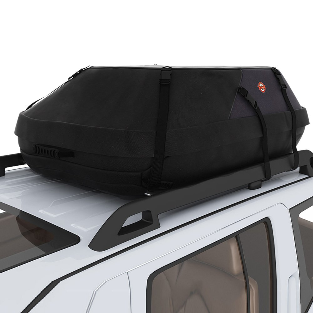 Ancheer 20.7 Cubic Feet Waterproof Car Rooftop Carrier- Car Top Cargo Bag Box Easy to Install Soft Rooftop Luggage Carriers with Wide Straps, Best for Traveling, Cars, Vans, SUVs