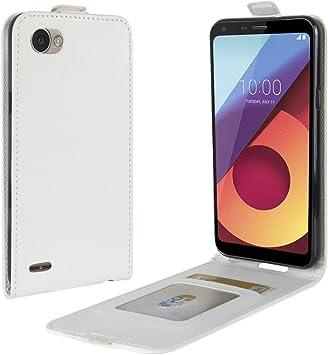Funda® Capirotazo Billetera LG Q6 Plus/LG Q6 (Blanco): Amazon.es ...