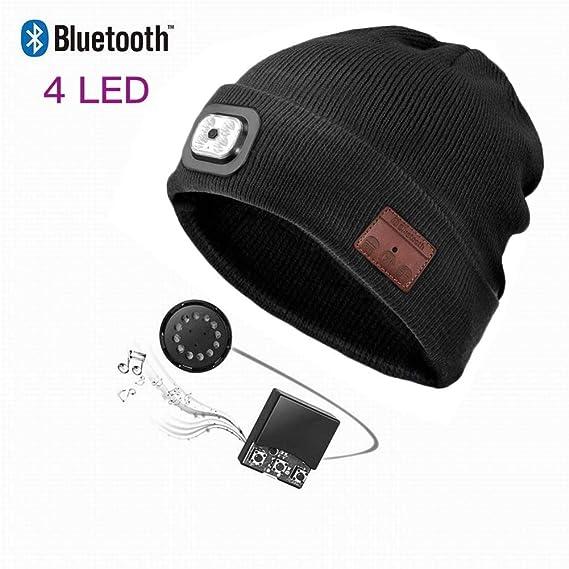 64a18d87927 Balai Bluetooth Musical Earphones Hats with LED Flashlight Light for Men  and Women