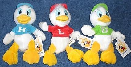 amazon com disney huey dewey louie three duck error lot beanie bean
