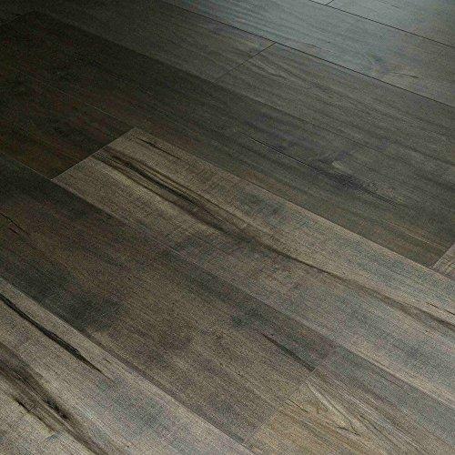 Dekorman 1551C Roasted Brown Birch Thick Click Locking Laminate Flooring, 17.943 Sq. ft., 12 mm, 48'' L
