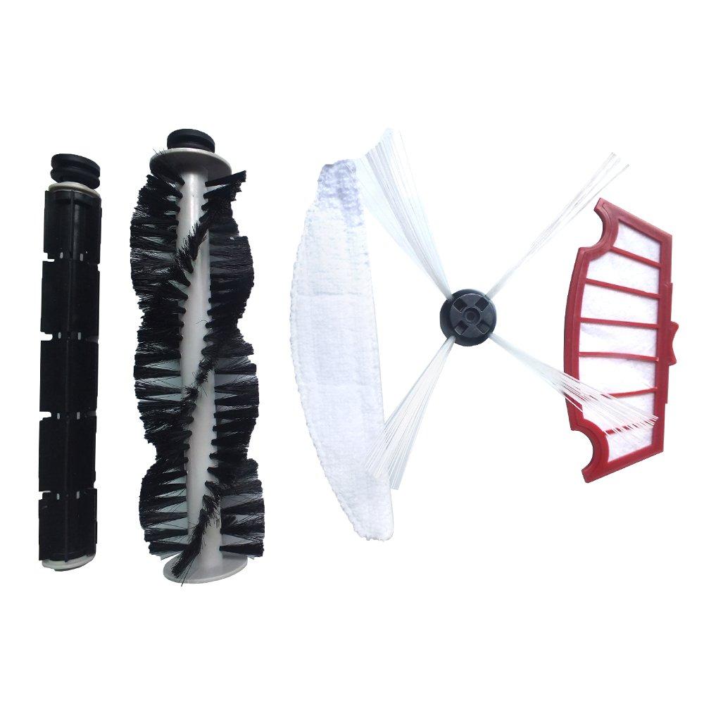A320 Robot aspiradora Juego de cepillo, cepillo principal, laterales de goma cepillo, mopa, montaje de filtro: Amazon.es: Hogar