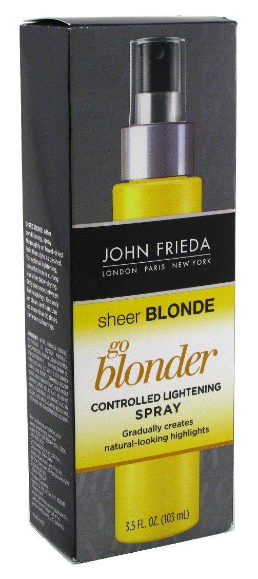 John Frieda, Sheer Blonde Go Blonder, Controlled Lightening Spray - 3.5 oz (2 Pack).