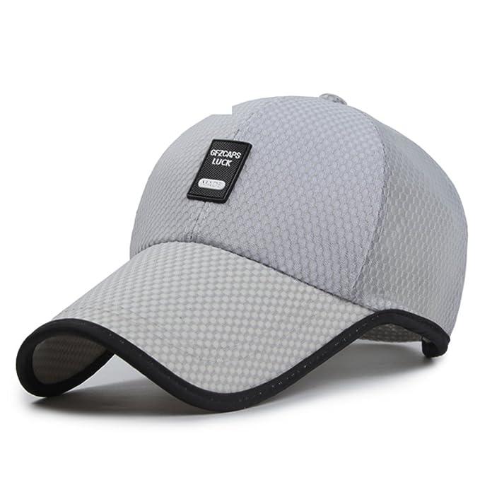 Sombrero Gorros para hombres verano al aire libre respirables  largo malla  sombrero de béisbol Versión coreana de la visera Sombrero para el sol-B ... 54e7e974673