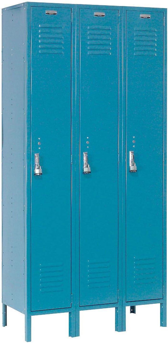 12x12x72 Ready To Assemble 1 Door Blue Single Tier Locker