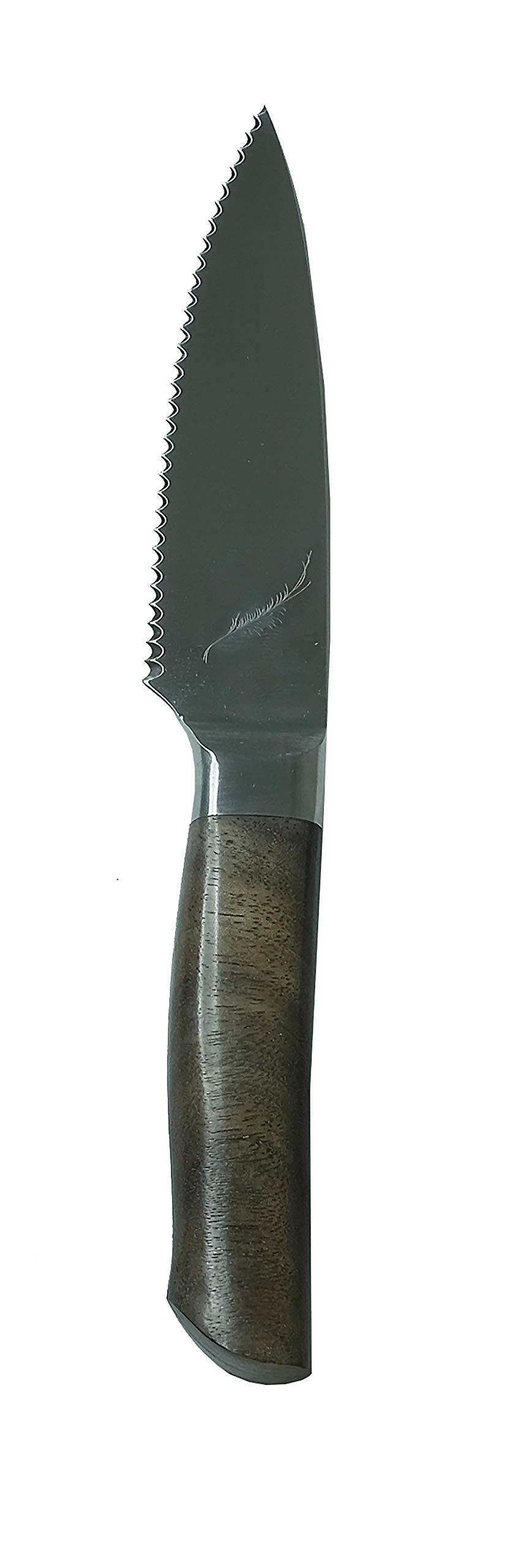 Ferrum RSRV-TMTO-0400 Reserve Single Bolster Tomato Knife, 4-Inch Black Walnut by Ferrum