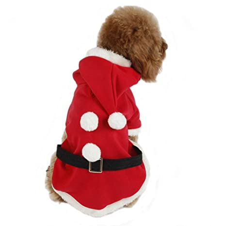 Traje, chaqueta para perro Padre Noël disfraz abrigo: Amazon ...