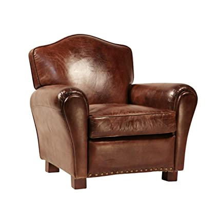 Outstanding Amazon Com Aged Leather Club Chair Kitchen Dining Spiritservingveterans Wood Chair Design Ideas Spiritservingveteransorg