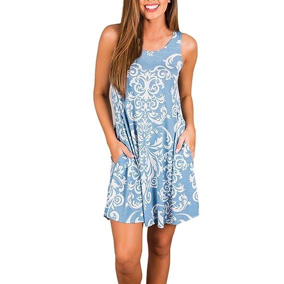 Vestido Vintage para Mujer Boho,Vestido de Fiesta de Verano Beach Boho Maxi