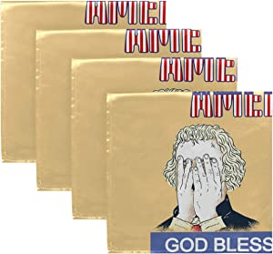 Cloth Napkins for Dinner Table - Funny Trump God Bless America Washable Dinner Napkins Set of 6 Reusable Dinner Napkin for Wedding Party Decoration 20x20in