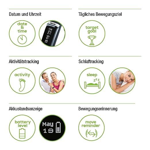 Beurer AS87 Sensor de Actividad física, Unisex, Negro, Talla única: Amazon.es: Deportes y aire libre