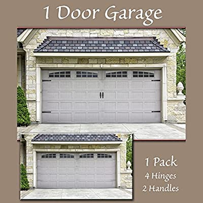 Single Car - 16-Packs 5.9x 3.93 Garage Door Decorative Hardware,Fade PVC Small Panels Kits Easy Installation for Metal Garage Door