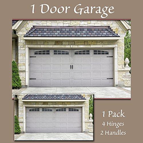 amazoncom household essentials 240 hinge it magnetic decorative garage door accents black home kitchen - Decorative Garage Door Hardware