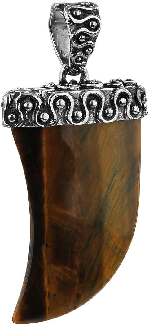 Marrón Plateado Tiger garras colgante para cadenas de kuzzoi macizo 925plata de ley y Tiger Ojos de piedras preciosas para collares, muy alta calidad y no 262469–099
