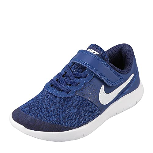 bcb1338107f3 NIKE Boy s Flex Contact (PSV) Running Shoes (Gym Blue White Binary Blue