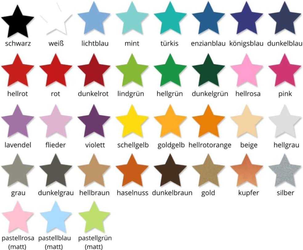 timalo/® Wandtattoo mit Namen und Sternen f/ür Kinder personalisierbar f/ür Jungen und M/ädchen 73077-beige-20cm-10sterne