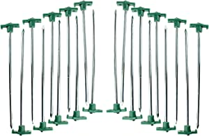 SE 9NRC10-20 Heavy-Duty Metal Tent Pegs Stake Set (20-Pack)