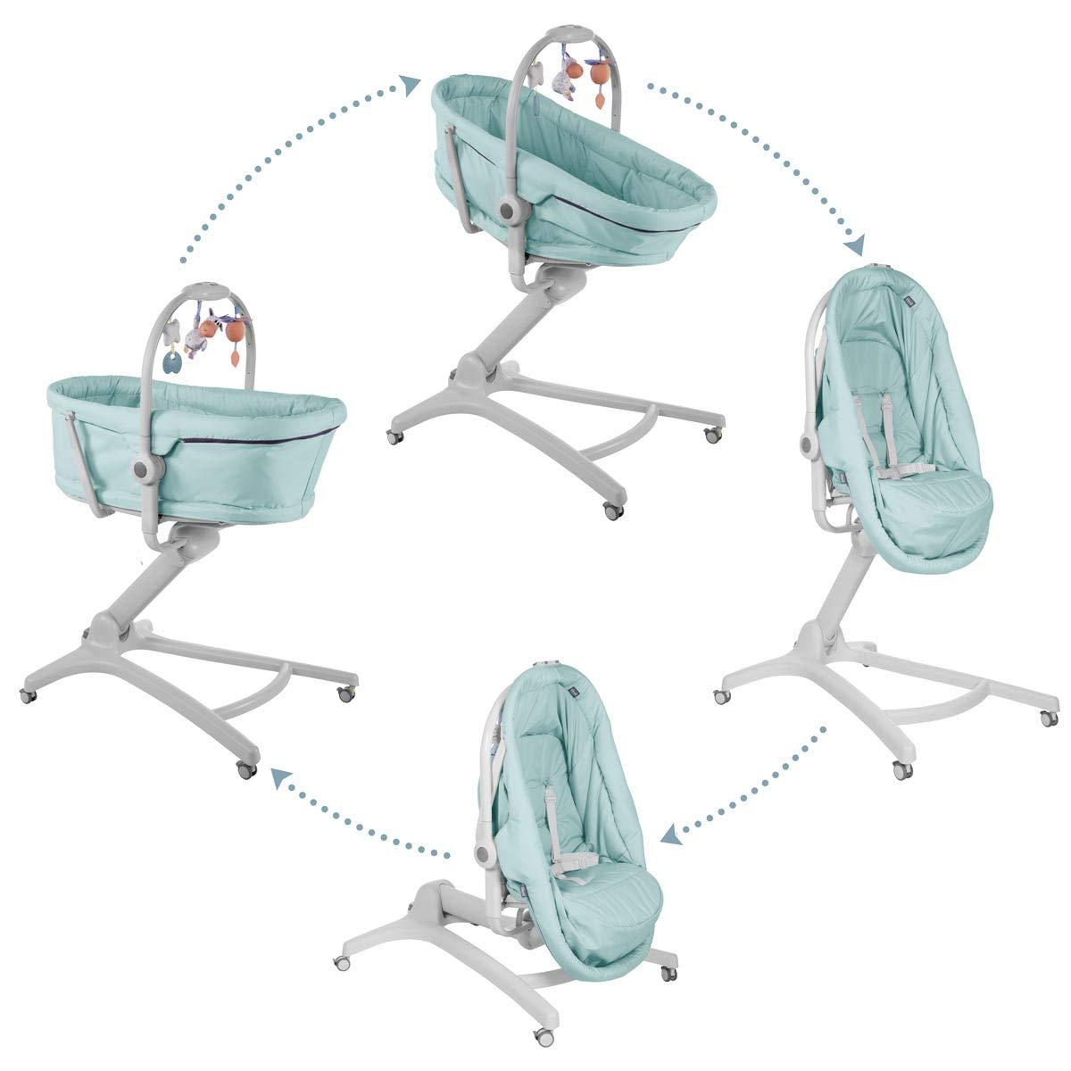 Chicco Baby Hug 4 In 1 Stubenwagen Liegesessel (von 0-6 Monate) Hochstuhl erster Stuhl (von 6-36 Monate) aquarell: Amazon.de: Baby - Chicco Wippe