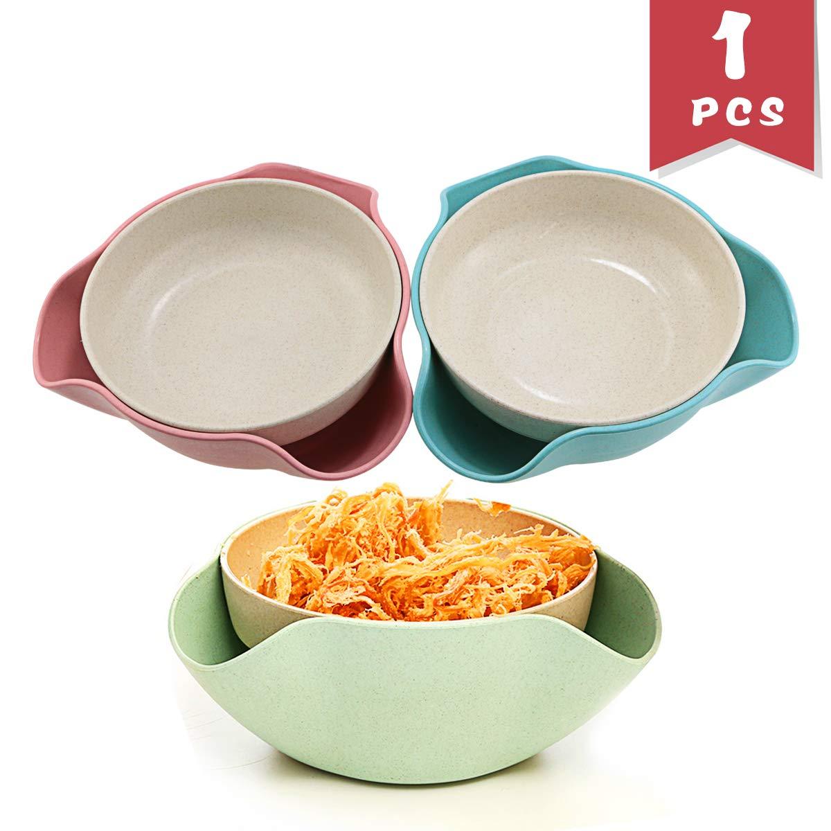 deebf分離可能Double Dishピスタチオボウル、スナックServing Bowl for Pistachios、ピーナッツ、枝豆、サクランボ、ナット、フルーツ、キャンディー、スナック、フルーツDisc   B07DRB6Q6T