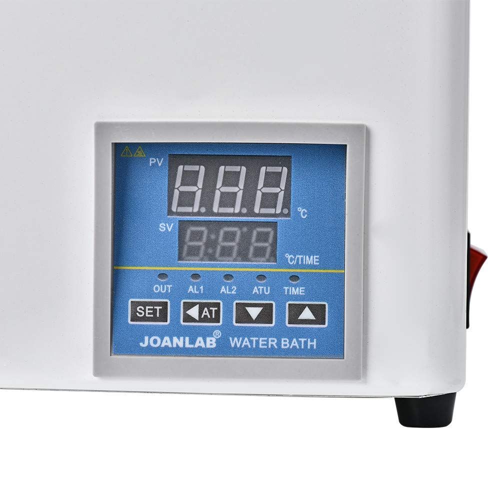 ETE ETMATE Digital Thermostatic Water Bath Lab Water Bath,Electric Digital Display Constant Temperature Water Bath, with Selectable Openings, RT to 100°C, 3L Capacity, 300W, 110V/60 Hz by ETE ETMATE (Image #9)