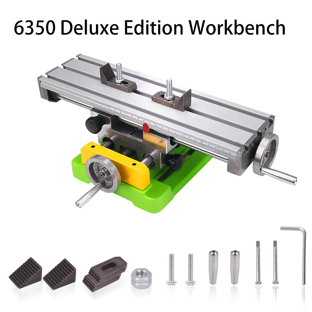 MYSWEETY MultifunctionWorktable Milling Working Cross Table Milling Machine Compound Drilling Slide Table For Bench Drill Adjustme X-Y (6350 SIZE)