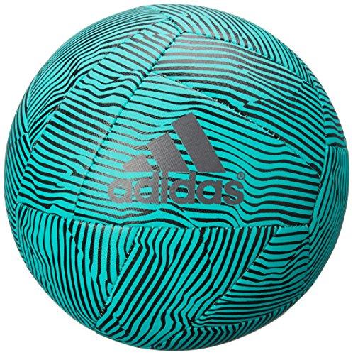 adidas Performance X Glider Soccer Ball, Shock Mint/Black/Night Metallic, 5