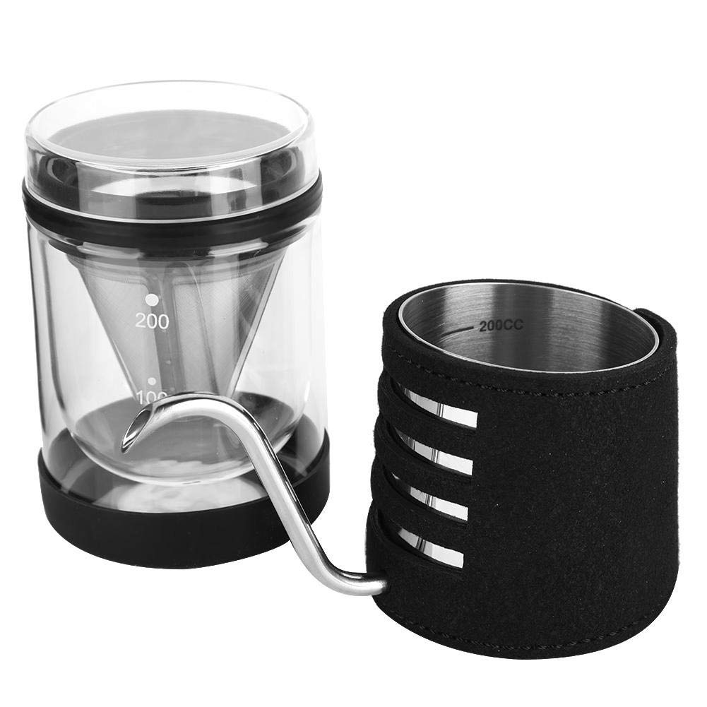 Coffee Pot Set Drip Pot Drip Pot Long Mouth Pot Hand-Washed Coffee Machine with Gift Box for Home or Office, or a Great Gift Send to Coffee Lovers by fo sa