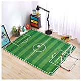 Children's Knitted Fabric Carpet Environmentally Game Crawling Non-slip Pad Soccer Playing Mats(59.06'' X 78.74'')