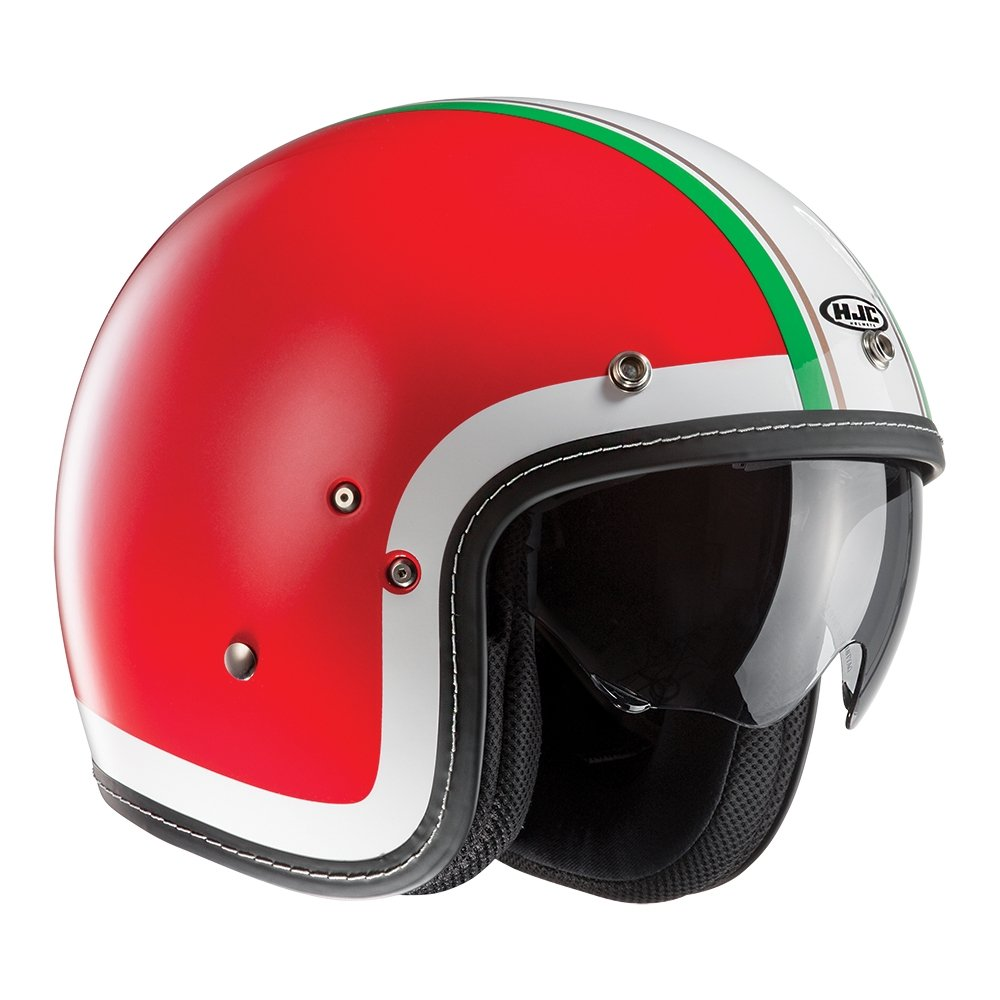 HJC FG-70s Heritage Open Face Motorcycle Helmet XL Red MC1 F7HOXL