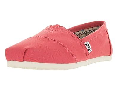 Toms Classic Coral Womens Canvas Espadrilles Shoes-3 PkLp1QOUOm