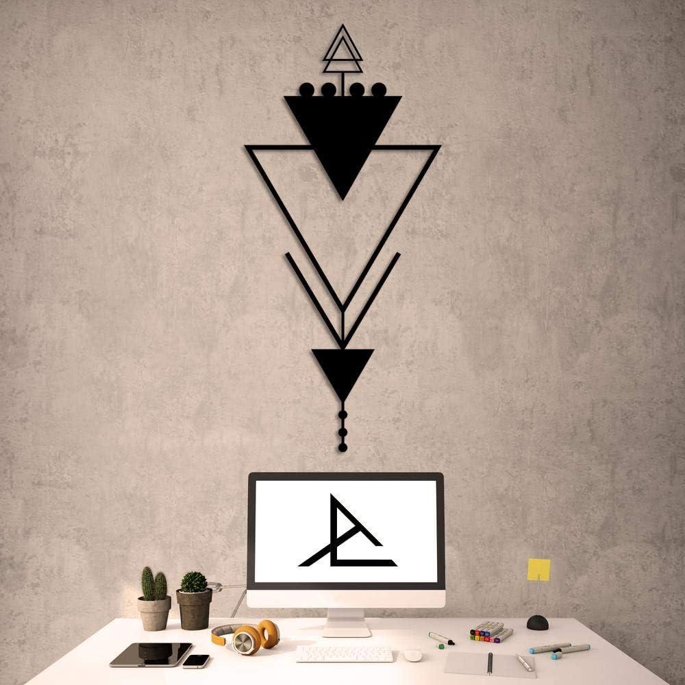 Archtwain Trigonal Decorative Design - Metal Wall Decor Home Office Decoration, Bedroom Living Room Decor, Sculpture (39.37 x 18.5 inch)