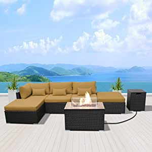 Amazon.com: Modenzi Outdoor Sectional Patio Furniture with ...