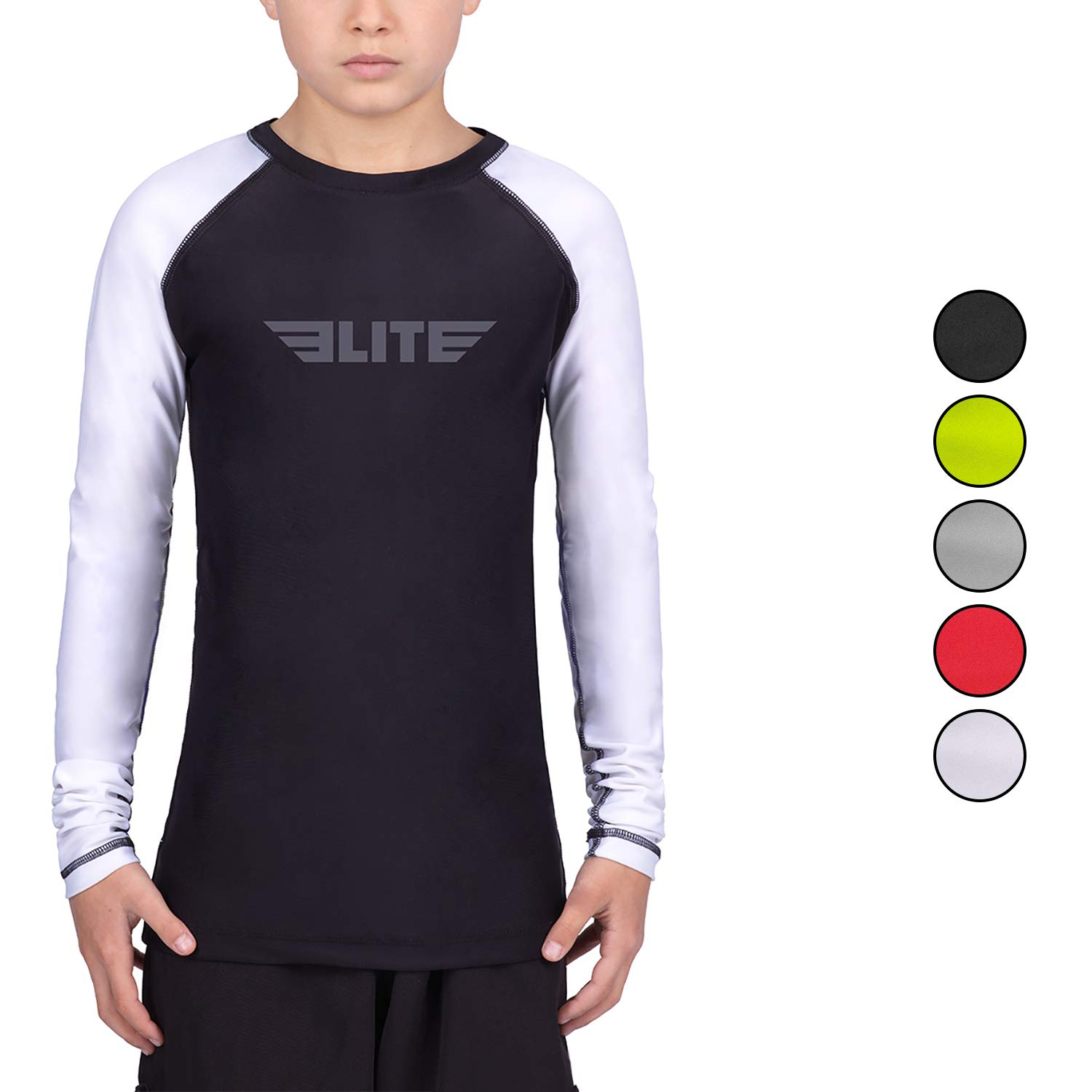 Elite Sports Rash Guards for Boys and Girls, Full