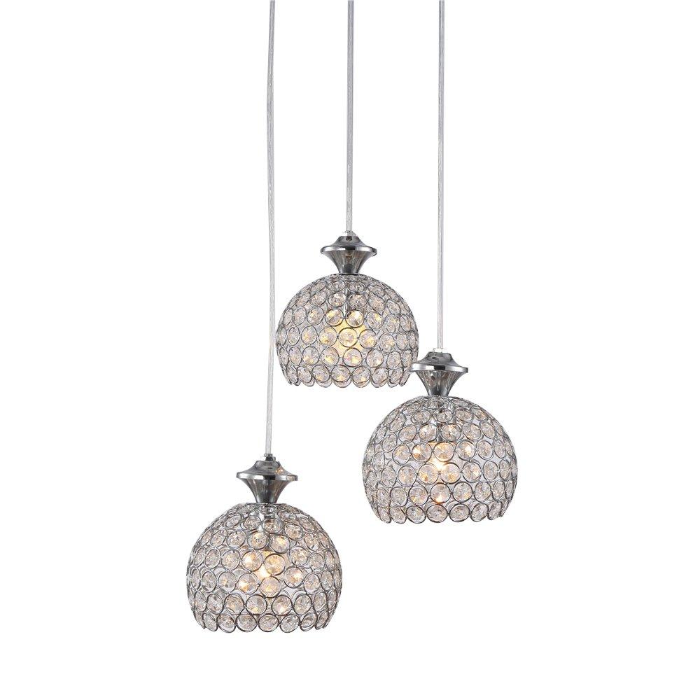 SAILUN 3er Set Kronleuchter Pendelleuchten Pendellampe Weiß E27 Lampenschirm für Küche Wohnzimmer Decken Hängeleuchte (B Type) Generic