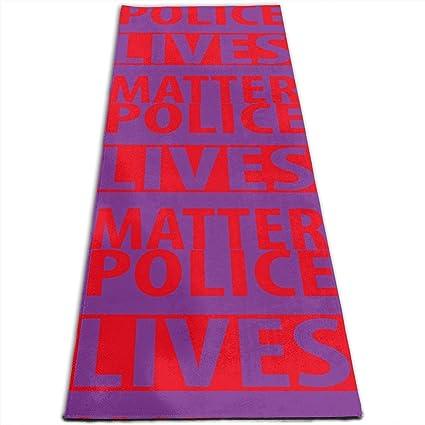 Amazon.com : JNSHO-G Yoga Mat, Police Lives Matter Outdoor ...