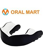 Oral Mart Sports Mouth Guard for Kids/Adults (9 Best Colors) - BPA Free Sports Mouthguard for Karate, Flag Football, Martial Arts, Rugby, Boxing, MMA, BJJ (with Vented Case)