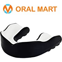 Oral Mart Protège-Dents pour Sport pour Jeunes/Adultes (10 Meilleures Couleurs) (avec étui ventilé)