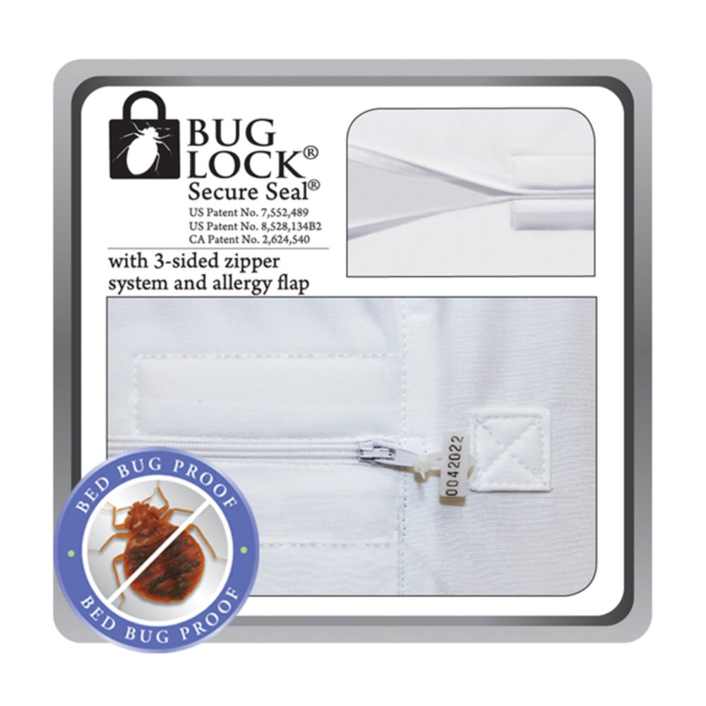 amazoncom protectabed buglock plus bed bug mattress encasement queen home u0026 kitchen