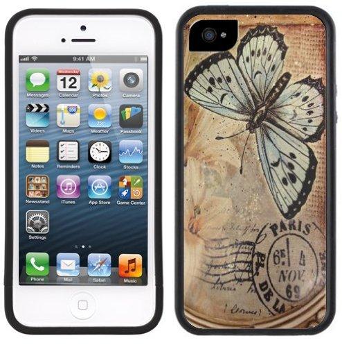Papillon Ancien de Paris | Fait à la main | iPhone 5c | Etui Housse noir